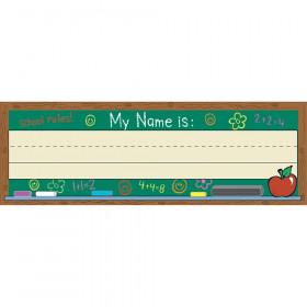 Self-Adhesive Name Plates Chalkboard
