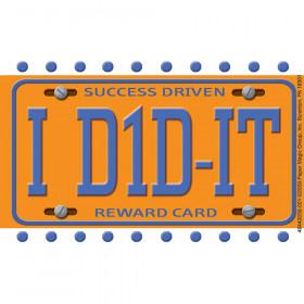 License Plate Reward Punch Cards