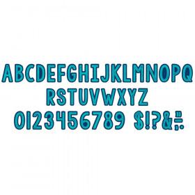 Plaid Attitude - Blue Letters Deco Letters