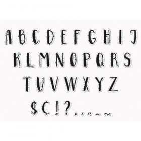 Simply Sassy - White Terrazzo Deco Letters
