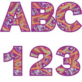 Positively Paisley Deco Letters, 184 Pieces