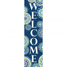 Blue Harmony Welcome Banners - Vertical