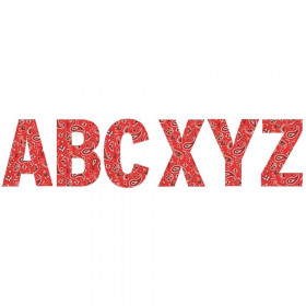 """Red Bandana 7"""" Deco Letters"""