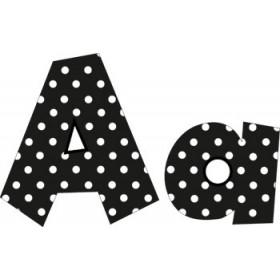 Black - 4In Polka Dot Letters