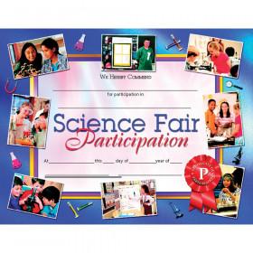 Science Fair Participation 30Pk 8.5 X 11 Certificates Inkjet Laser