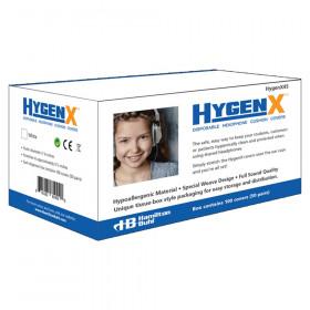 HygenX Sanitary Ear Cushion Covers for Over-Ear Headphones & Headsets - 50 Pair