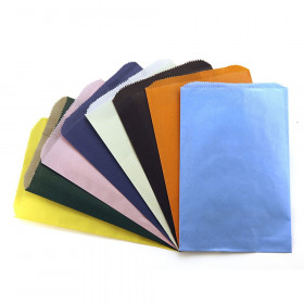 "Pinch Bottom Bags, Assorted Colors, 6"" x 9"", Pack of 28"