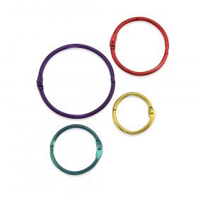 Metallic Book Rings, Pack of 36