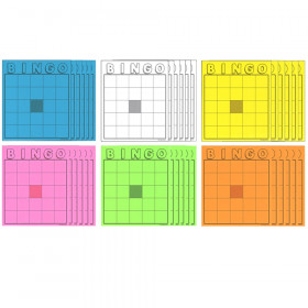 Blank Bingo Cards Assorted Colors