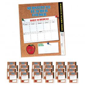 Substitute Teacher Folder, Elementary, Pack of 24