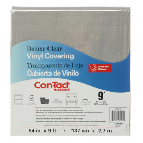 """Clear Vinyl Covering, Deluxe, 54"""" x 9'"""