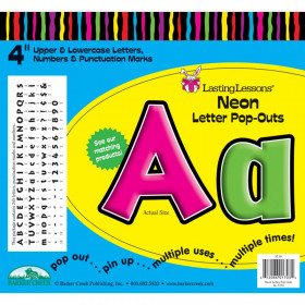 """Letter Pop-Outs, 4"""", Neon, 255 Pieces"""