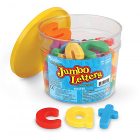 Jumbo Magnetic Letters 40/Pk Lowercase 2-1/2 Bucket