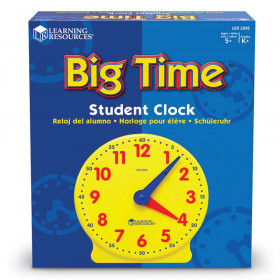 Big Time Clock Student 12 Hr 5 Diameter Plastic