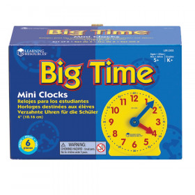 Extra 4 Geared Mini-Clocks 6/Pk
