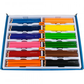 Color'Peps Triangular Colored Pencils School, Pack of 240