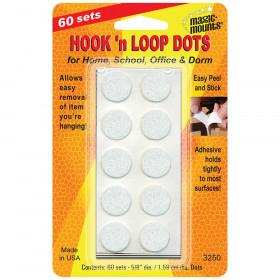"""Hook 'n Loop, 5/8"""" Dots, 60 sets"""