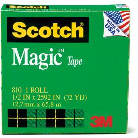 Tape Scotch Magic 1/2 X 36 Yds