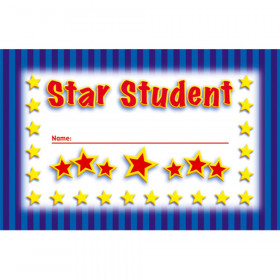 Incentive Punch Cards Star Student 36/Pk