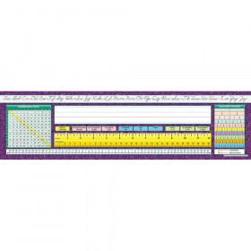 "Traditional Cursive Intermediate Desk Plates, 19"" x 5"", Pack of 36"