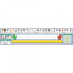 """Adhesive Primary Traditional Manuscript Desk Plates, 17.5"""" x 4"""", Pack of 36"""