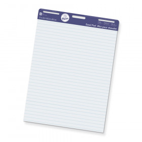 "Easel Pad, Non-Adhesive, White, 1"" Ruled 27"" x 34"", 50 Sheets"