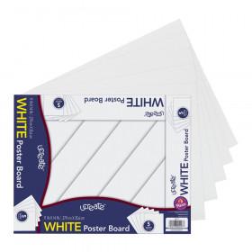 Peacock Poster Board Packs White