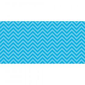 Fadeless 48X50 Aqua Chevron Design Roll
