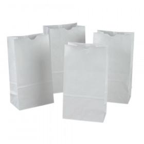 "Kraft Bag, White, 6"" x 3-5/8"" x 11"", 50 Bags"