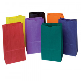 "Kraft Bag, Assorted Bright Colors, 6"" x 3-5/8"" x 11"", 28 Bags"