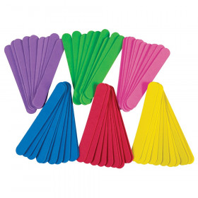 "WonderFoam Jumbo Craft Sticks, Assorted Colors, 6"" x 3/4"", 100 Count"