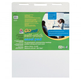 "Easel Pad, Self-Adhesive, White, 20"" x 23"", 25 Sheets"