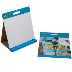 "Dry Erase Table Top Easel Pad, Non-Adhesive, White, 16"" x 15"", 10 Sheets"