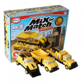 Magnetic Mix or Match Construction Vehicles
