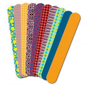 Printed Craft Sticks, Fabric Prints, 50/pkg