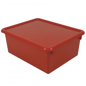 """Stowaway 5"""" Letter Box with Lid, Red"""