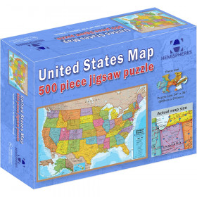 """USA Puzzle, 24"""" Height, 36"""" Width, 500 Pieces"""