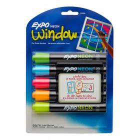 Neon Dry Erase Marker, Bullet Tip, Assorted, Pack of 5