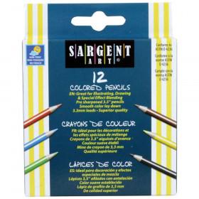 Half Size Colored Pencils, 12 Colors