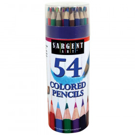 Colored Pencils, 54 colors in storage tub