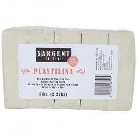 Plastilina Non-Hardening Modeling Clay, 5 lbs., Cream
