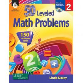 50 Leveled Math Problems Level 2 W/ Cd
