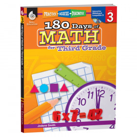 Shell Education 180 Days of Math Book, Grade 3