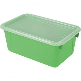 Small Cubby Bin with Cover, Classroom Green
