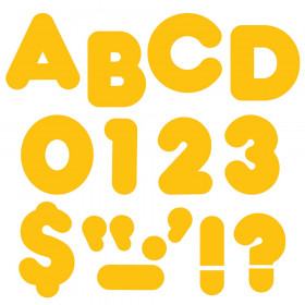 """Gold 4"""" Casual Uppercase Ready Letters"""