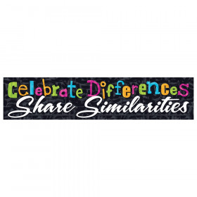 Celebrate differences Quotable Expressions Banner, 3'