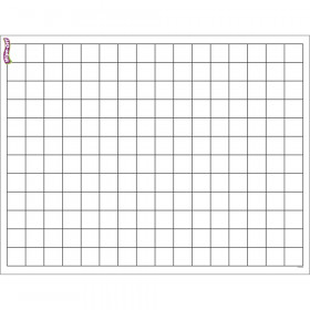 """Graphing Grid (Small Squares) Wipe-Off Chart, 17"""" x 22"""""""