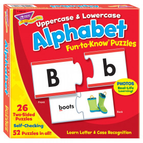 Uppercase & Lowercase Alphabet Fun-to-Know® Puzzles