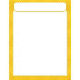 Polka Dots Yellow Learning Chart