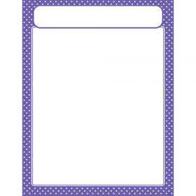 Polka Dots Purple Learning Chart